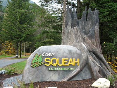 Camp Squeah Entrance