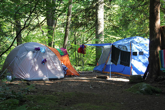 Tenting Areas at Camp Squeah