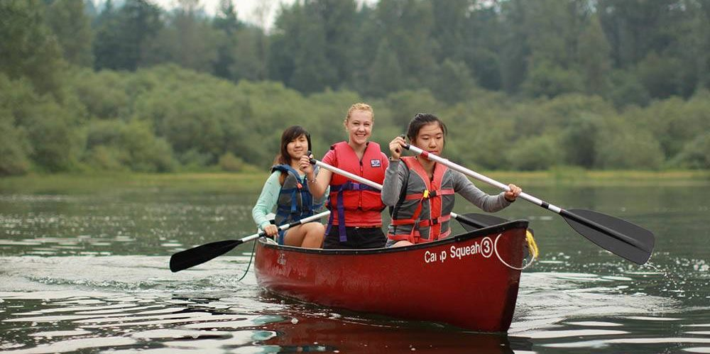 Canoeing at Camp Squeah